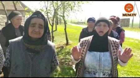 Ağsu Rayonunda kənd sakinləri aksiya keçirir-Video