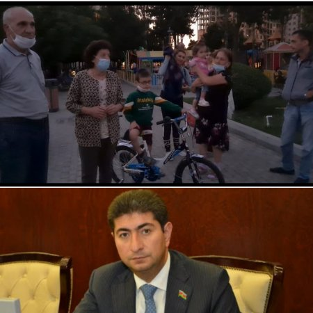Yasamal rayonunda sakinlərin etirazı-Video